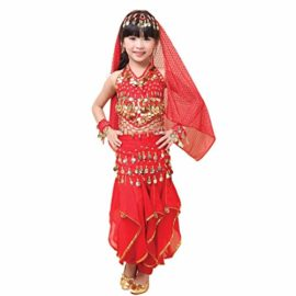 Pilot-trade-Children-Belly-Dance-Costume-Harem-Pants-Halter-Top-Veil-Bracelet-0