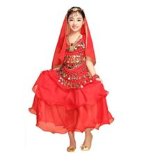Pilot-trade-Girl-Belly-Dance-Costume-3-Layers-Skirt-Hip-Scarf-Veil-Sets-0