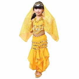 Pilot-trade-Kid-Children-Belly-Dance-Costume-Harem-Pants-Halter-Top-Sets-YellowS-0