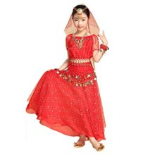 Pilot-trade-Kid-Elegant-Belly-Dance-Costume-Set-Outfit-Shiny-Top-Skirt-Hip-scarf-0