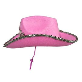 Pink-Cowboy-Cowgirl-Tiara-Felt-Light-Up-Rodeo-Princess-Hat-0-0