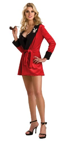 Playboy Secret Wishes Girlfriend Robe, Red Costume