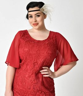 Plus-Size-1930s-Style-Wine-Red-Angel-Sleeve-Lace-Flapper-Dress-0-1
