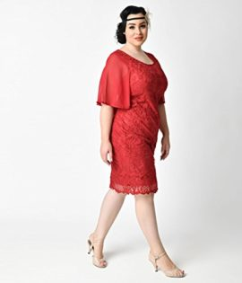 Plus-Size-1930s-Style-Wine-Red-Angel-Sleeve-Lace-Flapper-Dress-0-3