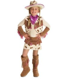 Princess-Paradise-Rhinestone-Cowgirl-Child-Costume-BrownPink-X-Small-4-by-Princess-Paradise-0