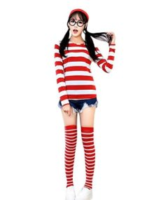 Quesera-Womens-Long-Sleeve-Sweatshirt-Wheres-Waldo-Wenda-Wally-Costume-Outfit-0