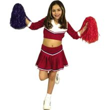 RedWhite-Cheerleader-Childs-Costume-Size-Medium-8-10-0