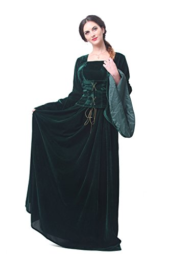 Renaissance Medieval Nuoqi Women's Victorian Gown Costume Long Dress
