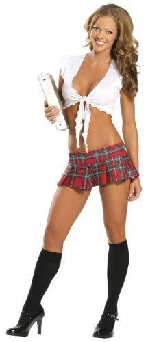 Roma-Costume-2-Piece-Naughty-School-Girl-Red-Plaid-0