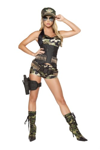 Roma Costume 5 Piece Army Babe Costume