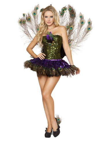 Roma Costume Women's 3 Piece Tempting Peacock Costume