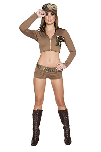 Roma Costume Women's 4 Piece Sexy Soldier Babe