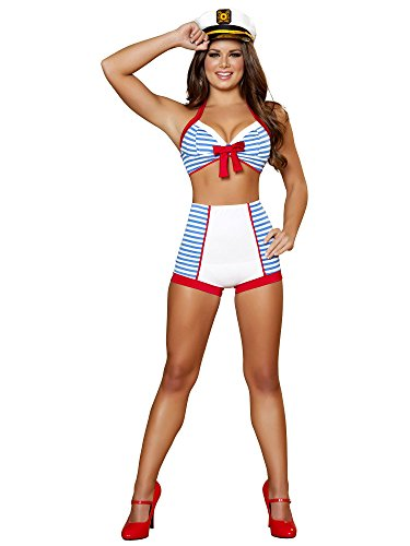 Roma Costume Women's Ahoy Playful Pinup Sea Captain Sailor Costume