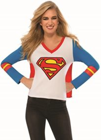 Rubies-Costume-Co-Womens-DC-Superheroes-Supergirl-Sporty-Tee-0