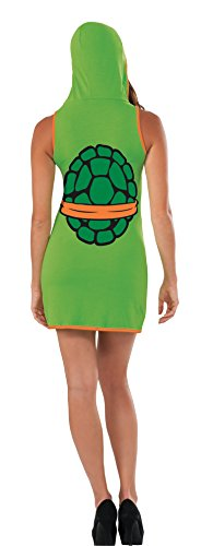 Rubies-Costume-Co-Womens-TMNT-Classic-Costume-Michelangelo-Hooded-Tank-Dress-0-0