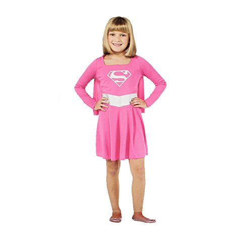 Rubie's Pink Supergirl Child Costume, Size Small