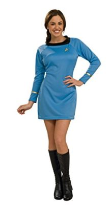 Rubies-Womens-Classic-Startrek-Command-Halloween-Themed-Blue-Costume-0