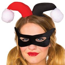 Rubies-Womens-DC-Comics-Harley-Quinn-Eye-Mask-and-Headpiece-0