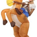 SASALO-Adult-Kids-Inflatable-Costume-Funny-Animal-Riding-Halloween-Blow-up-Suit-0-4