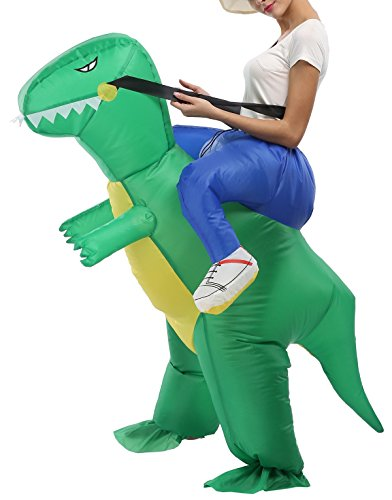 SASALO Adult Kids Inflatable Costume Funny Animal Riding Halloween Blow up Suit