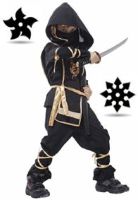 SPJ-Children-Ninja-Martial-arts-Costume-7-piece-set-Japan-Halloween-Cosplay-0