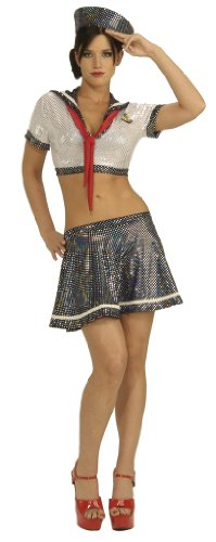 Secret Wishes Women's Ahoy Matey Adult Costume with Holographic Sequins