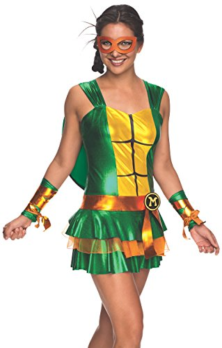 Secret Wishes Women's Teenage Mutant Ninja Turtles Michelangelo Costume Dress