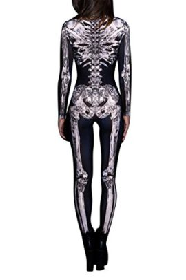 Selowin-Womens-Halloween-Skeleton-Print-Costume-Stretch-Skinny-Catsuit-Jumpsuit-0-2