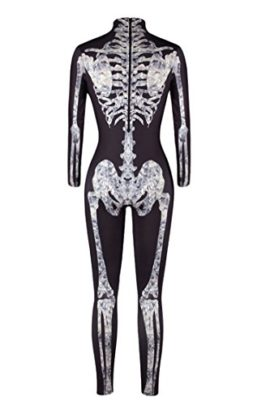 Selowin-Womens-Halloween-Skeleton-Print-Costume-Stretch-Skinny-Catsuit-Jumpsuit-0-4