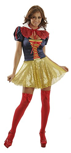Sexy Adult Halloween Theme Cosplay Rave Party Disney Princess Fairytale Storybook Snow White Costume for Women