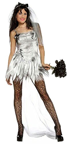 Sexy bride costume halloween adult zombie bride wedding for Sexy wedding dress costume