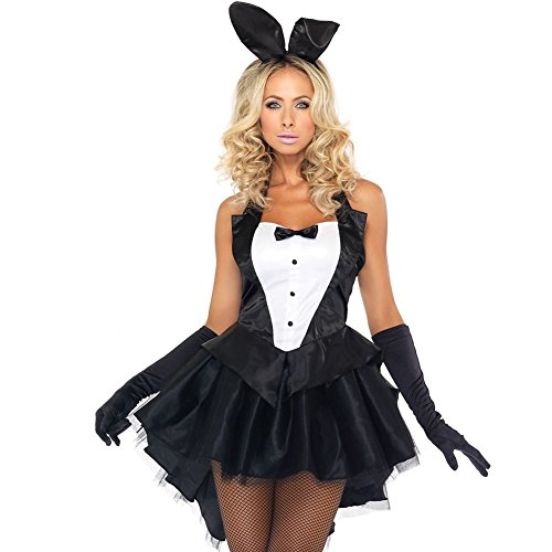 Sexy Bunny Costume Halloween Fancy Dress Rabbit Tuxedo for All Size