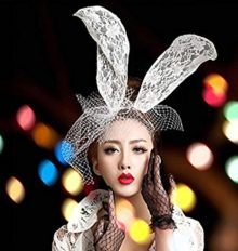 Sexy-Lace-Bunny-Ears-Gauze-Veil-Hair-Veil-Mask-Rabbit-Long-Ears-Headband-White-0