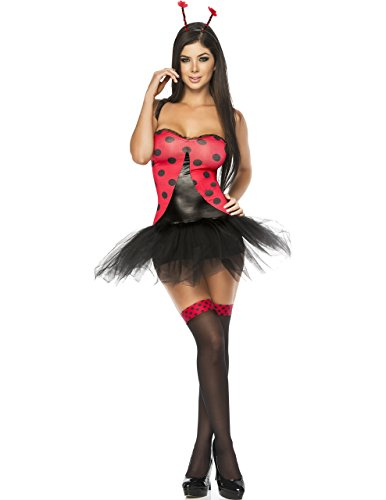 Sexy Milf Bug 6 Piece Costume in Red/Black