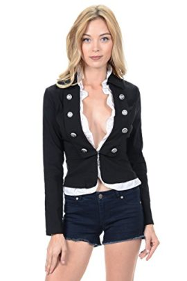 Sexy-Military-Womens-Waistcoat-Frilled-with-Buttons-Long-Sleeve-Jacket-L-3523-0