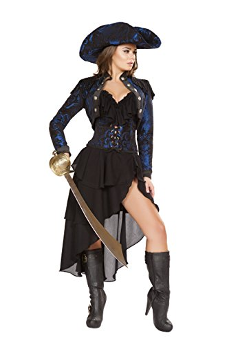 Sexy Women's 4pc Captain of the Night Pirate Buccaneer Costume