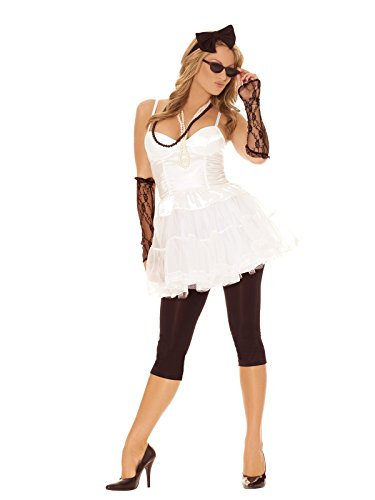 Sexy Women's 80's Rock Star Adult Roleplay Costume Set