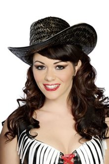 Sexy-Womens-Cowgirl-Wild-West-Black-Straw-Hat-Costume-Accessory-0