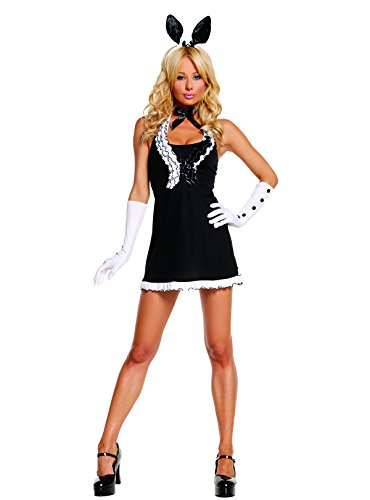 Sexy Women's Exotic Black Tie Bunny Adult Roleplay Costume