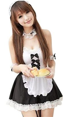Sexyin-Womens-Sexy-Lingerie-Skirt-Maid-Outfit-Sets-Cosplay-Uniform-Pajama-0