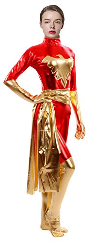 Sheface-Womens-Metallic-Phoenix-Zentai-Catsuit-Halloween-Costumes-0