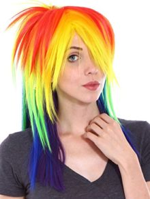Simplicity-Little-Pony-Rainbow-Wig-with-Long-Wig-Tail-Set-for-Cosplay-Costume-0