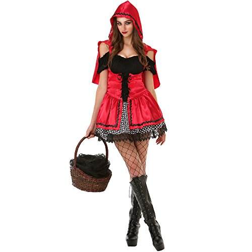 Sizzling Lil' Red Adult Women's Halloween Party Role Play & Cosplay Costume