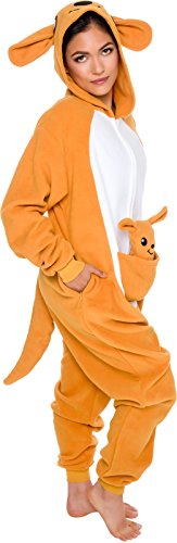 Slim-Fit-Animal-Pajamas-Adult-One-Piece-Cosplay-Kangaroo-Costume-by-Silver-Lilly-0-0