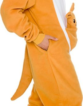 Slim-Fit-Animal-Pajamas-Adult-One-Piece-Cosplay-Kangaroo-Costume-by-Silver-Lilly-0-1