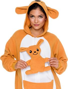 Slim-Fit-Animal-Pajamas-Adult-One-Piece-Cosplay-Kangaroo-Costume-by-Silver-Lilly-0-2