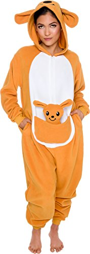 Slim-Fit-Animal-Pajamas-Adult-One-Piece-Cosplay-Kangaroo-Costume-by-Silver-Lilly-0