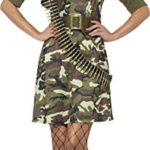 Smiffys-Womens-Army-Combat-Cadet-Costume-Dress-Jacket-Belt-Hat-and-Aviator-Glasses-Troops-Serious-Fun-Size-6-8-45503-0