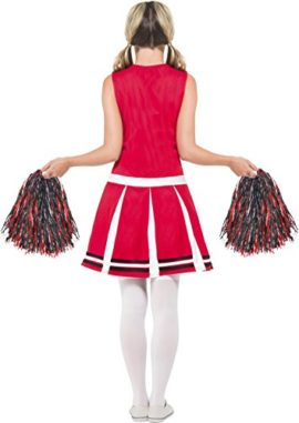 Smiffys-Womens-Cheerleader-Costume-with-Dress-and-Pom-Poms-0-0