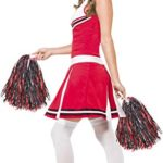 Smiffys-Womens-Cheerleader-Costume-with-Dress-and-Pom-Poms-0-1